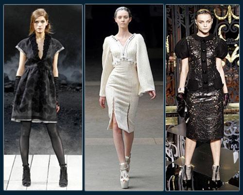 Chanel, Alexander McQueen,  Louis Vuitton