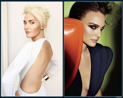 "Kate Winslet by Mario Testino in ""Solo Act"" for Vogue UK; Natalie Portman by Mario Testino in ""Natalie or Nothing"" for Vogue"