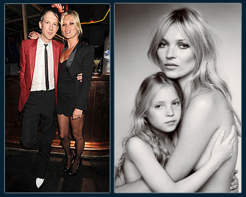 Kate Moss &  Jefferson Hac; их дочь Lila Grace