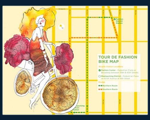 Карта передвижения Tour de Fashion