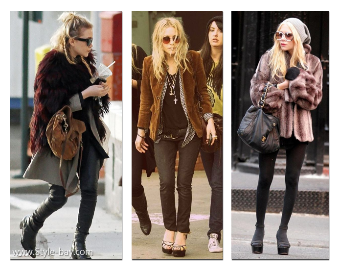 Mary-Kate Olsen and Ashley Olsen boho style 4